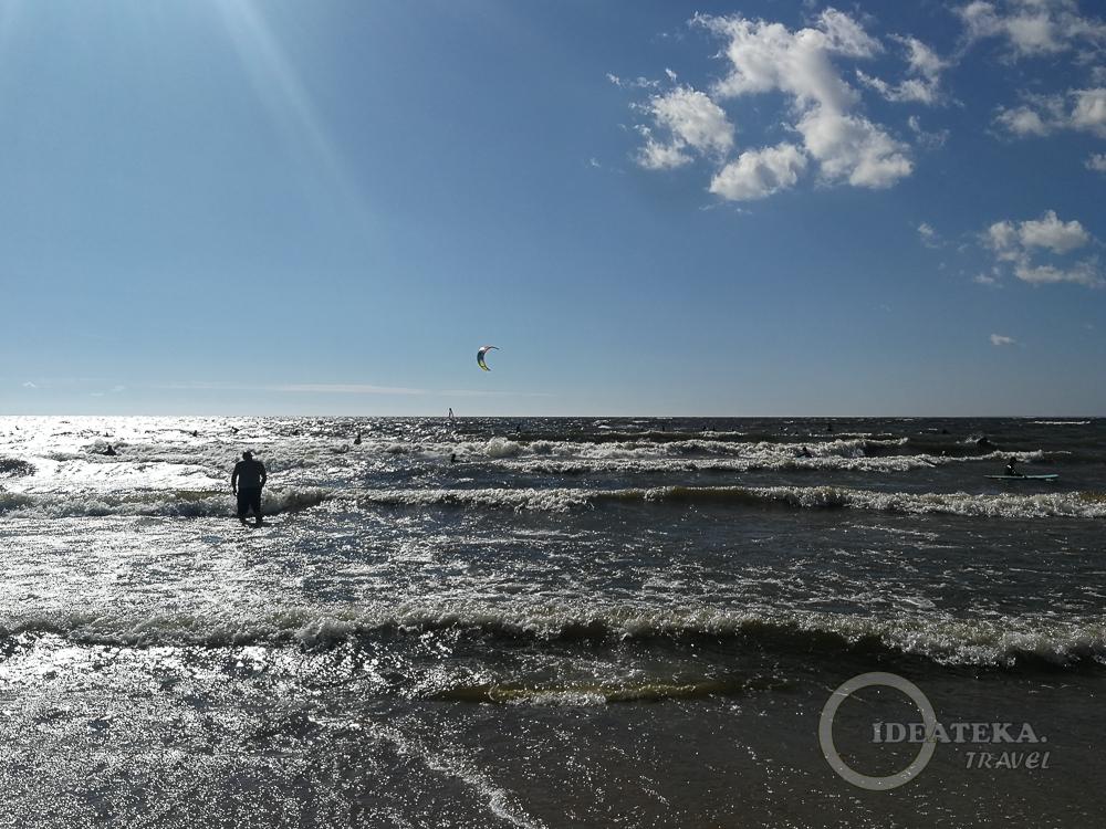 Море на пляже Ласковом, Курортный район